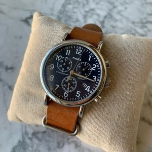 Weekender Chronograph 40mm Leather Strap Watch